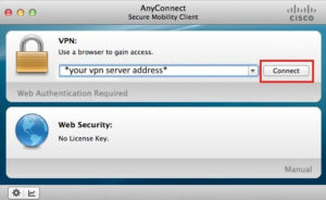 connect to cisco anyconnect vpn client on mac os x